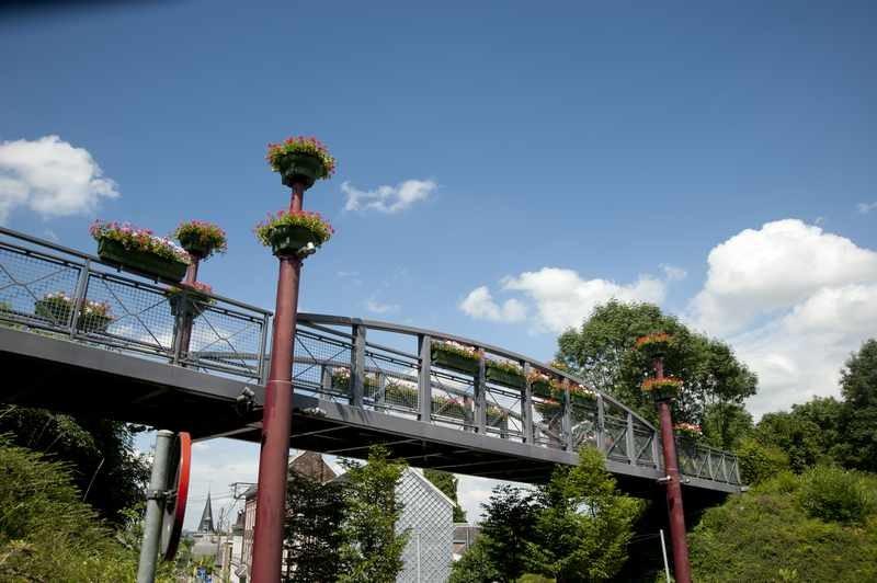 Pont de la Ligne 38 à hauteur de Thimister (source : laligne38.be)